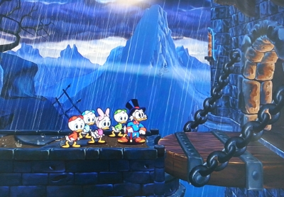 Scrooge McDuck breaks into Castle Greyskull to slip the Sorceress some roofies.