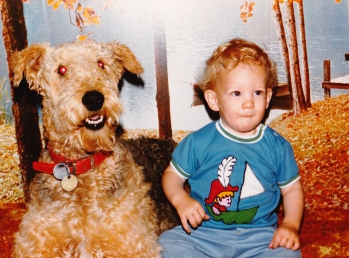 "Journey back in time with me and my trusty dog, ""Lil' Satan""."