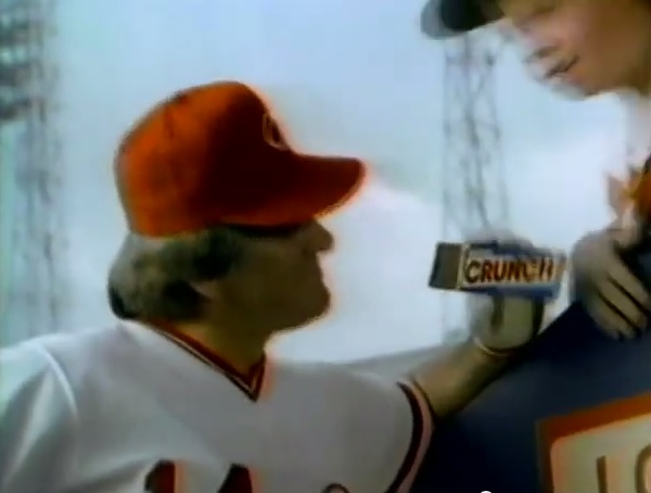 """I'd wager that there's no finer rice crisped chocolate bar in the world!"" -Pete Rose"