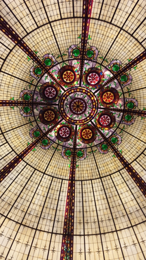 Glass ceiling inside Caesar's.