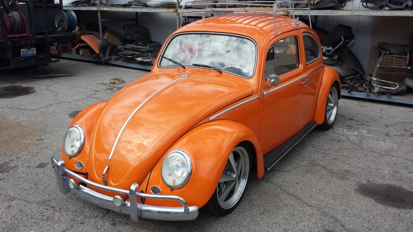 The Tic-Tac Beetle Bug. This VW had an AC pump built onto the frame of the Type-1 motor.