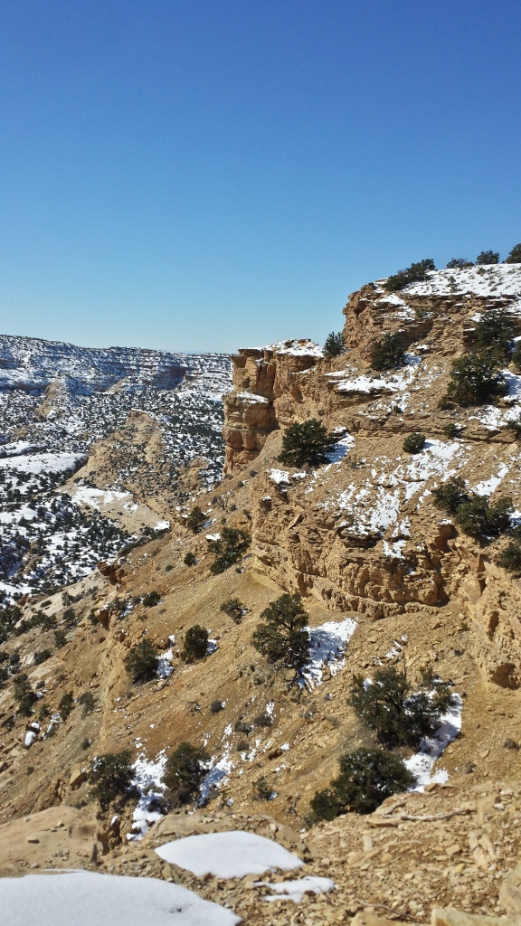 The canyons in Utah were snow-capped and breathtaking.....