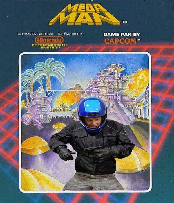 Mega ManHelmet 7 Cover